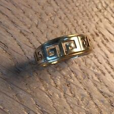 Vintage 14kt Greek Key Design Ring Size 6