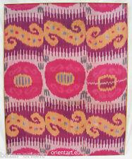 Antik Usbek Silk  IKAT  Decke panel 155x124 cm 19 Jh. auf Holz gespannt Rarität