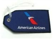 American Airlines Luggage ID Tag Current Red/W/B Embroidered Navy Background