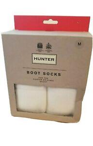 Womens Hunter Original Short Boot Socks White Size M US 5-7 Fleece New MSRP $25