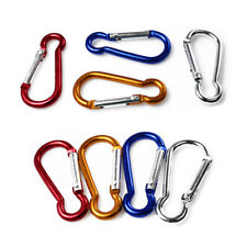 4Pcs 6cm Colorful Carabiner Snap Clip Hook Key Chain Hiking Camp Outdoor D-ring