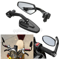 """Pair 7/8"""" Motorcycle Bike Bar End Mirrors Rear Side View Cafe Racer Universal AU"""