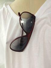 Vintage Women's Anne Klein for Riviera Burgundy Sunglasses with Anne Klein Case