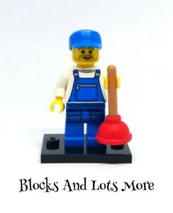 Lego Collectable Minifigures - Series 9 - 71000 - Plumber Figure COL144