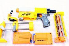 Nerf Recon CS-6 long Gun Barrel ,Stock, 2 full Clips + Darts Lot