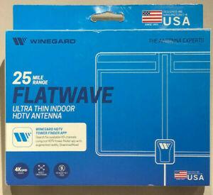 Winegard Ultra-Thin Indoor HDTV Antenna   FL-1000H - Free HDTV, Tower Finder App