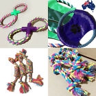 Puppy Pet Dog Chew Toy Floss Rope Frisbee Cotton Rope Toys