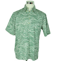 NEW Reyn Spooner Mens Polo Shirt L Hawaiian Channel Sail Dark Forest Green $98