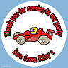 Personalised Red Racing Car Boys Birthday Stickers Party Thank You Cake - 187