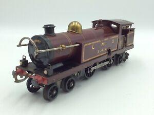 Hornby O Gauge Tin Plate Clockwork Locomotive with Key LMS 444 Plus Track