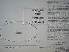 69 70 1969 1970 FORD MUSTANG MACH 1 DELUXE DOOR SPEAKER TEMPLATE+