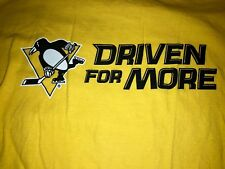 """Pittsburgh Penguins """"Driven For More"""" Adult XL Yellow T-Shirt SGA Promo. T23"""