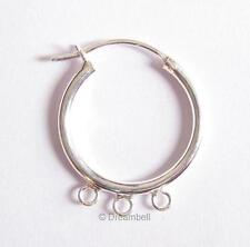 2x STERL SILVER hoop Chandelier earrings Connector 18mm