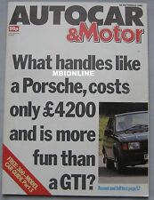 AUTOCAR magazine 28/9/1988 featuring BMW M3 Evo, Skoda 136 Rapid Coupe, Jaguar
