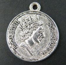 30pcs Tibetan Silver Coin Queen Charms Pendants 23x20mm 11704