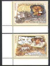 Romania 2005 Europa/Gastronomy/Dog/Horse/Hunting/Food/Maps 2v set (n34884)
