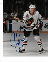 Jeremy Roenick Chicago Blackhawks Autographed 8X10 Photo