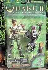 1998 ReSaurus Quake II Action Figure Jungle Marine Athena W/Strogg Parasite  MOC