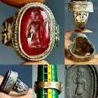 Roman Agate king intaglio stone silver beautiful old Ring