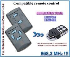 Hormann HSM2 / Hörmann HSM4 compatibile telecomando, CLONE 868,3Mhz