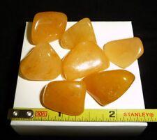 DINO: 7 AA Grade YELLOW QUARTZ Polished Stones, Brazil - 40 g - Crystal Healing
