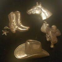 Vintage Western Southwestern 4 Button Covers