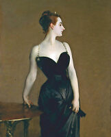 Sargent Madame X Woman In Black Dress Painting Giclee Real Canvas Art Print New
