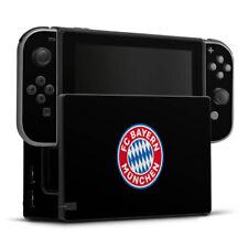 Nintendo Switch Folie Aufkleber Skin - FC Bayern München Logo auf Schwarz