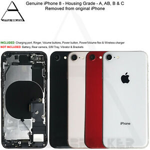 Genuine Apple iPhone 8 Back Rear Housing With Parts Grade A AB B and C