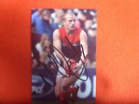 NATHAN JONES  HAND SIGNED 6X4 INCH FOOTBALL PHOTO  MELBOURNE DEMONS
