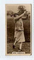 (Gw484-444) Millhoff, Famous Golfers, #12 Mrs Guedalla 1928 G-VG