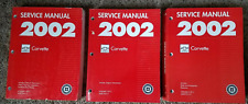2002 Chevrolet Chevy Corvette Service Shop Repair Workshop Manual Set FACTORY
