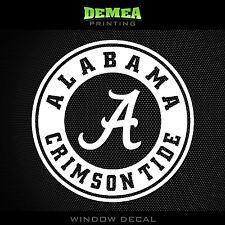 "Alabama Crimson Tide_Text - NCAA - White Vinyl Sticker Decal 5"""