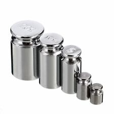 5pcs 1g 2g 5g 10g 20g Grams Precision Chrome Weight Scale Calibration Set Silver