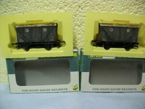 12t Single Vent Box Van 'G.W' x 2 By Wrenn W4318X '00' Gauge 'Weathered', Boxed