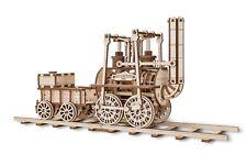 EWA Eco-Wood-Art Models - Locomotion # 1 Mechanical 3D Wooden Puzzle, DIY