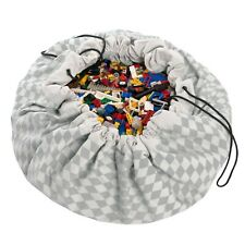 Play Mat and Toy Storage Bag - Durable Floor Activity Organizer Mat - Large D...
