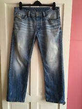 DIESEL Men's 34W 29L Distressed Larkee Jeans ⭐️0810N Wash⭐️