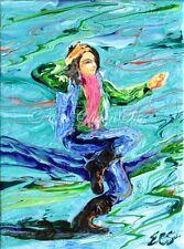 Zesty (1) Original Acrylic Abstract Hip-Hop Dancer Painting