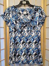 Maurices Womens Geometric Blouse Top Sz M