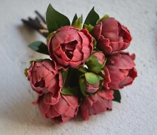 Burgundy Peonies Real Touch Flowers For Silk Bridal Bouquets Wedding Centerpiece