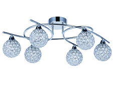 TP24 Piccadilly Osterley 6x3W LED chrome round glass ceiling light