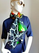 #New#      MAX MARA 100% Silk Scarf, printed NEW