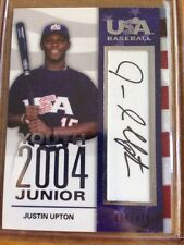 2007 UD USA Baseball Youth 2004 Junior Auto JUSTIN UPTON /475  Detroit Tigers