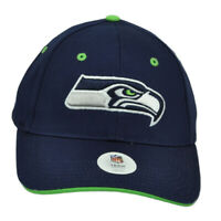 NFL Seattle Seahawks Constructed Navy Blue Hat Cap Curved Bill Adjustable Youth