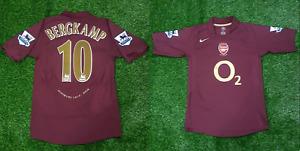 Arsenal jersey 2005 2006 away last match highbury bergkamp shirt premier league
