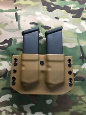 Coyote Tan Kydex Dual Magazine Carrier for Glock .45 ACP 10mm