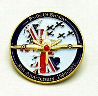 UK STOCK! 1940-2021 Battle of Britain War Purple Poppy Enamel Pin Badge Brooch