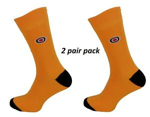 Mens 2 Pair Pack Mustard and Black Mod Target Socks