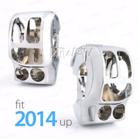 Chrome aluminum switch cover kit for Harley Touring Trike '14-later USA STOCK